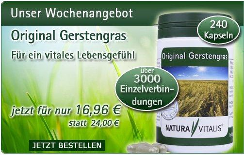 Original Gerstengras von Natura Vitalis - 240 Kapseln