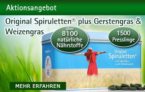 Spirulina plus Gerstengras und Weizengras
