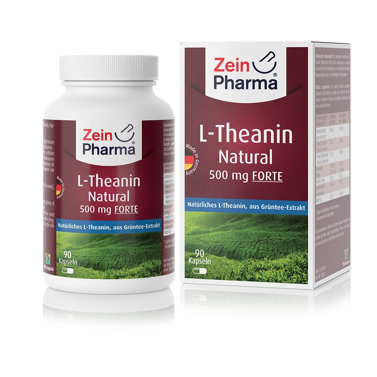 L-Theanin Natural Forte 500 mg - 90 Kapseln