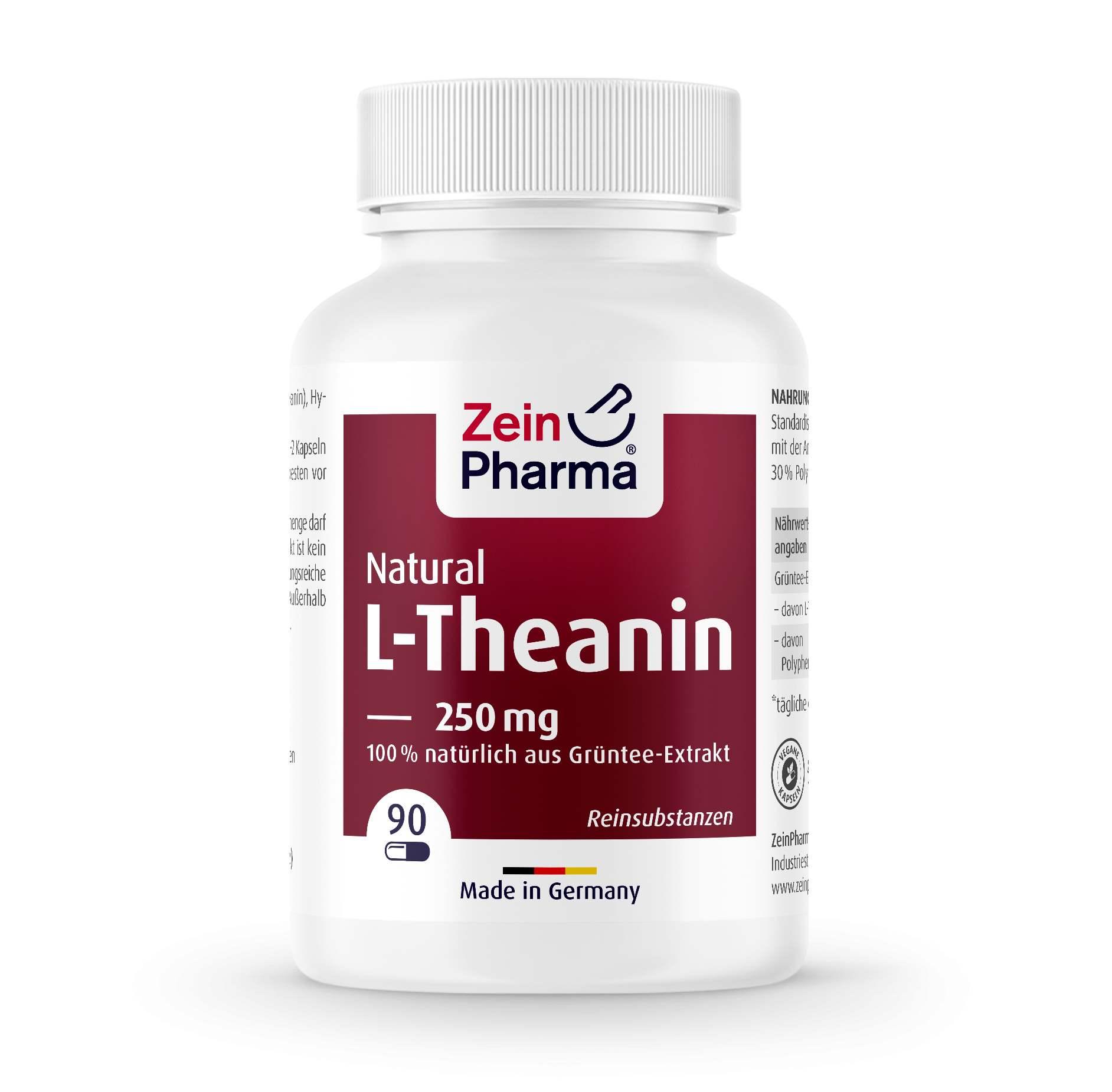 L-Theanin Natural 250 mg - 90 Kapseln