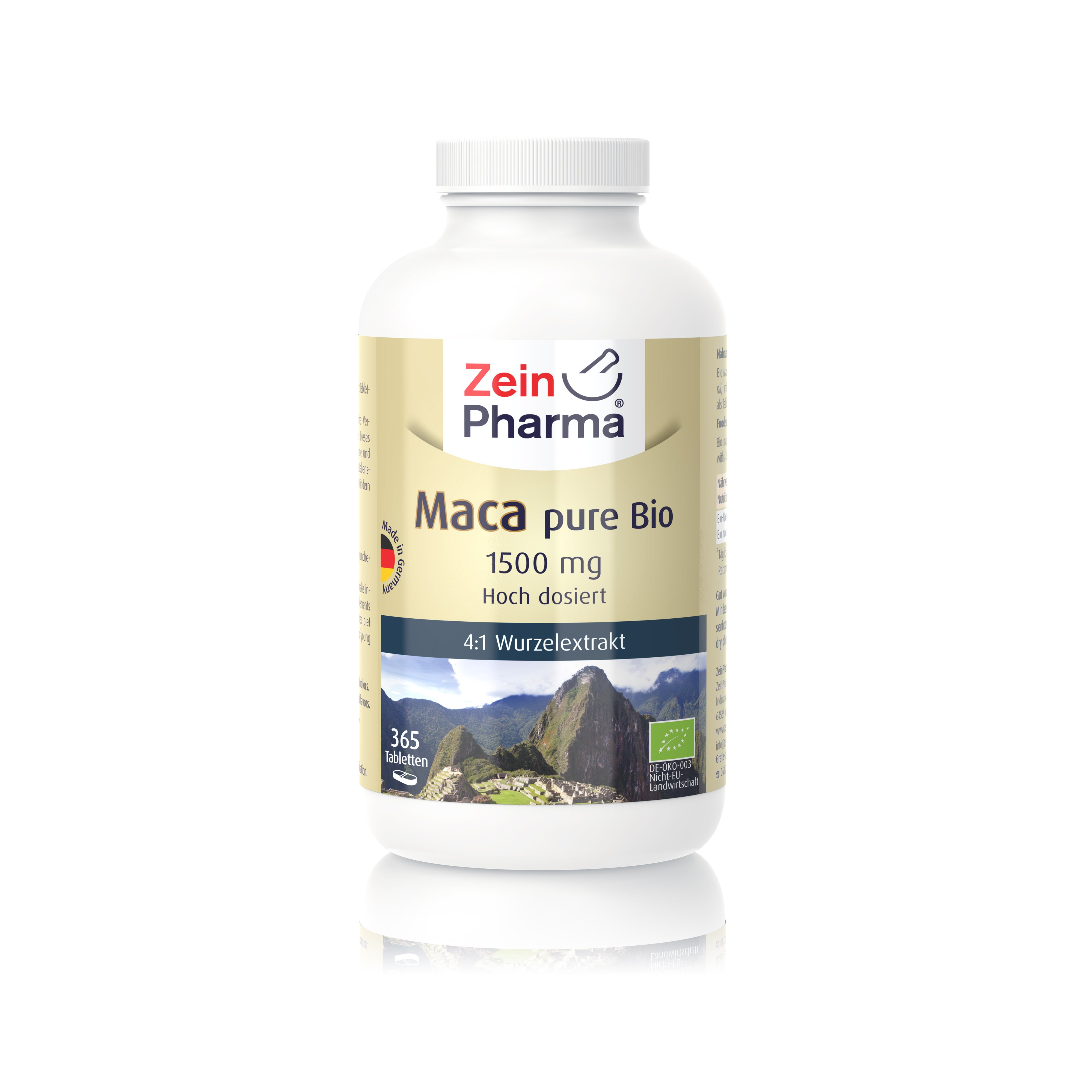 Maca pure Bio 1500 mg - 365 Tabletten
