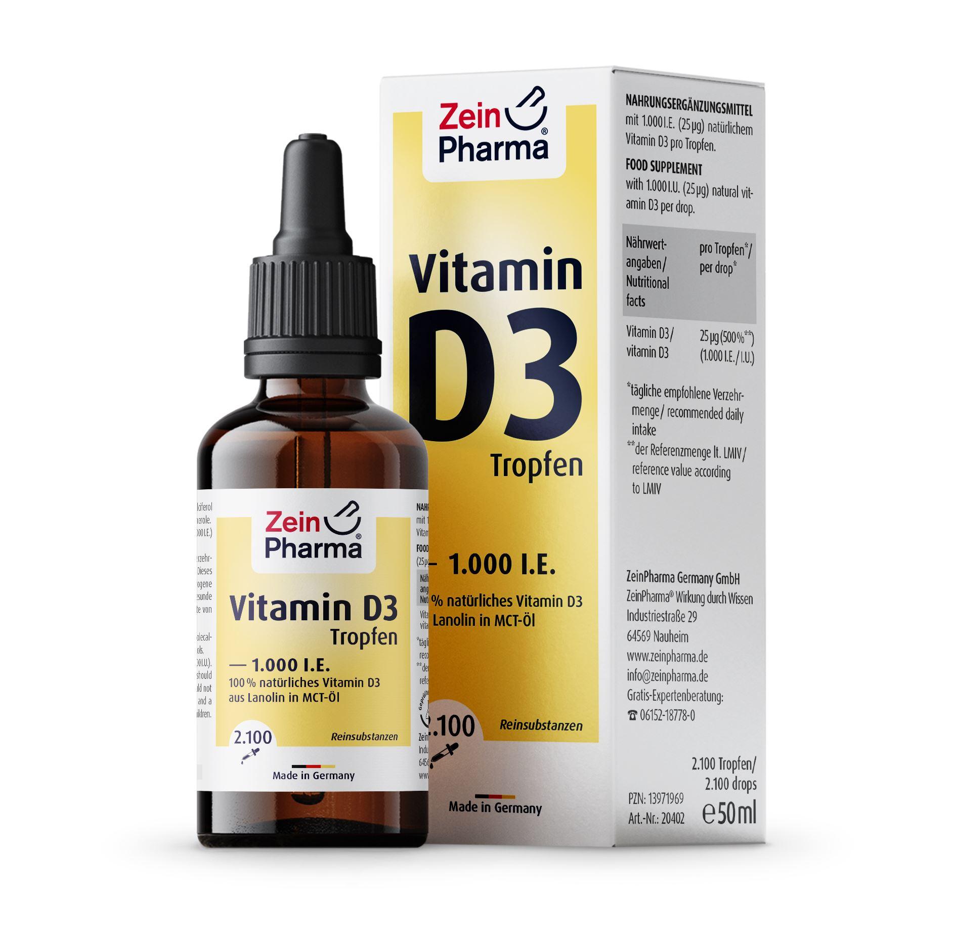 Vitamin D3 1.000 I.E. - Tropfen