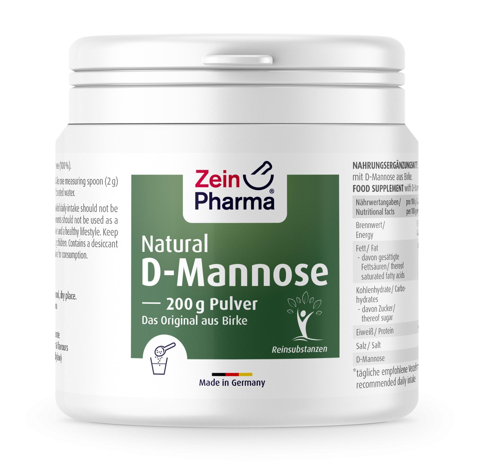 Natural D-Mannose Pulver 200g