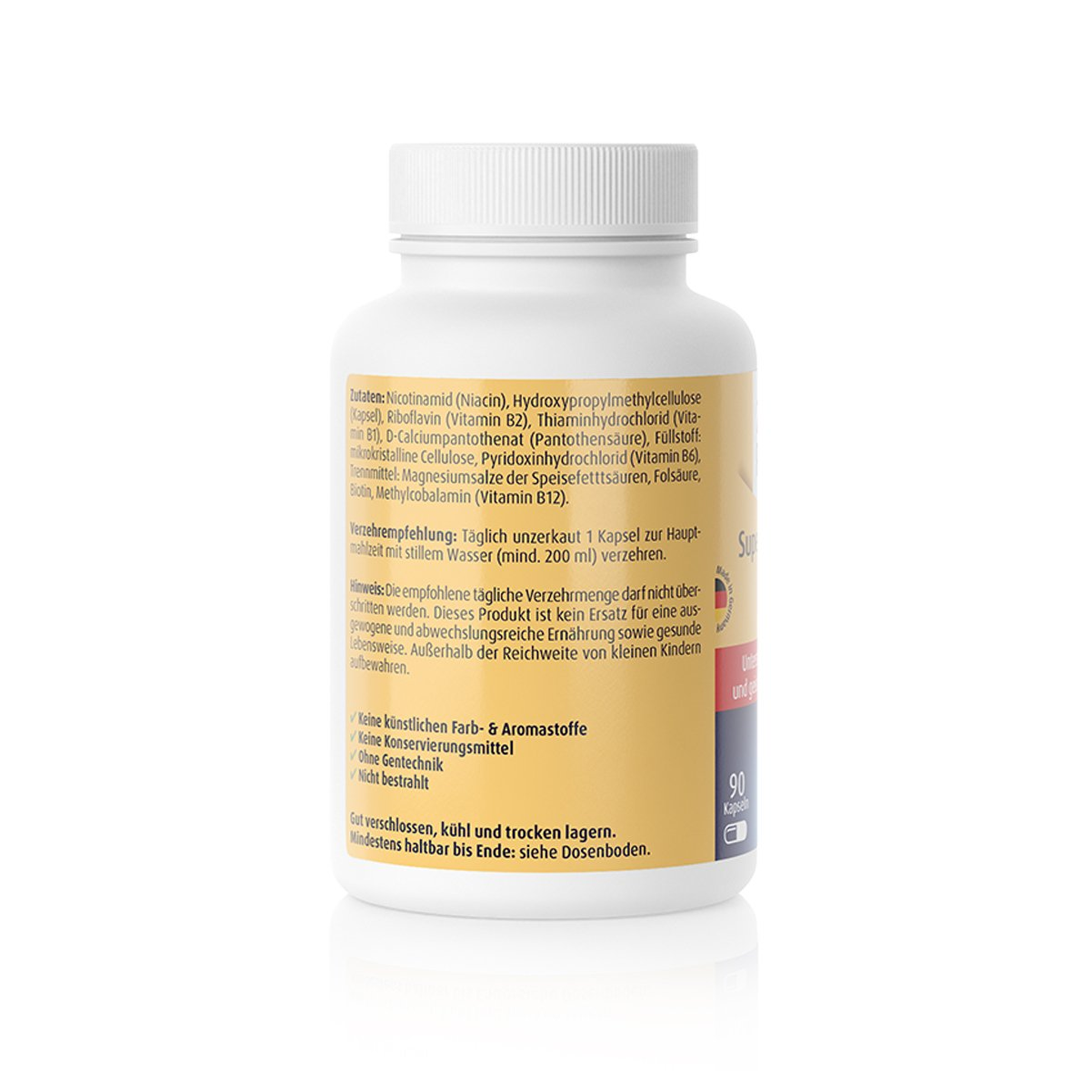 Super B-Komplex + Biotin - 90 Kapseln
