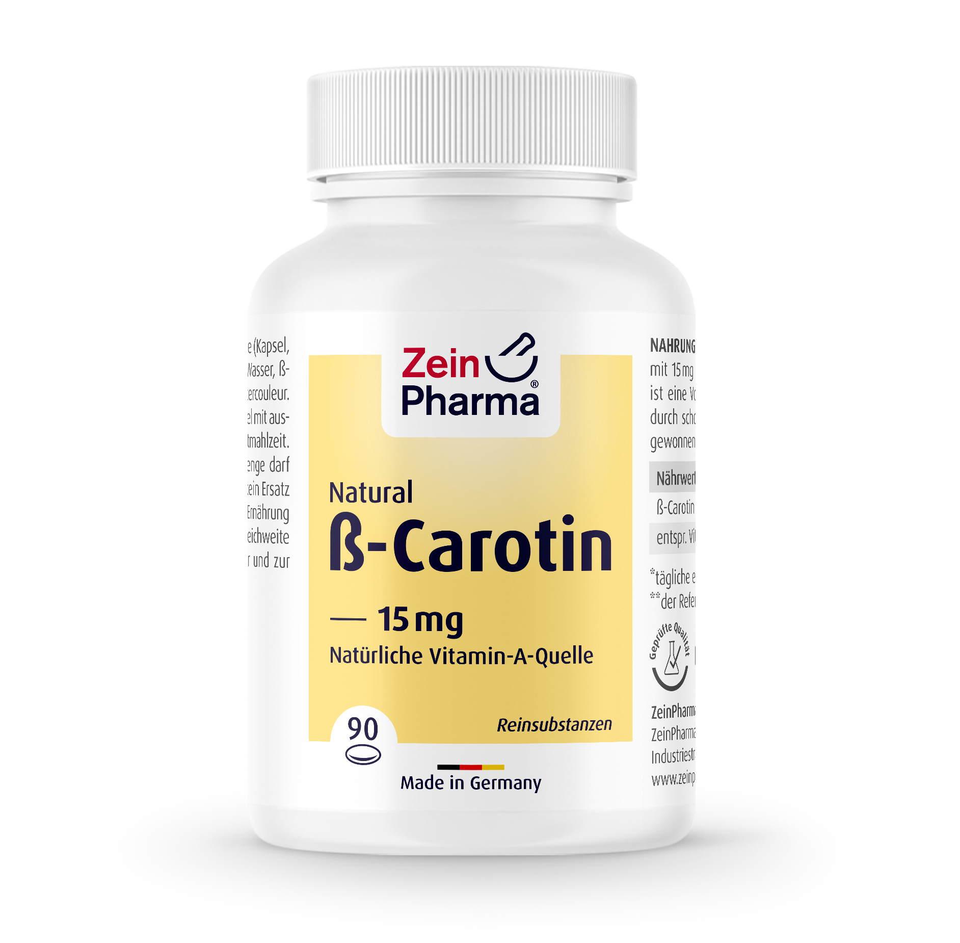 Beta Carotin Natural 15 mg - 90 Kapseln