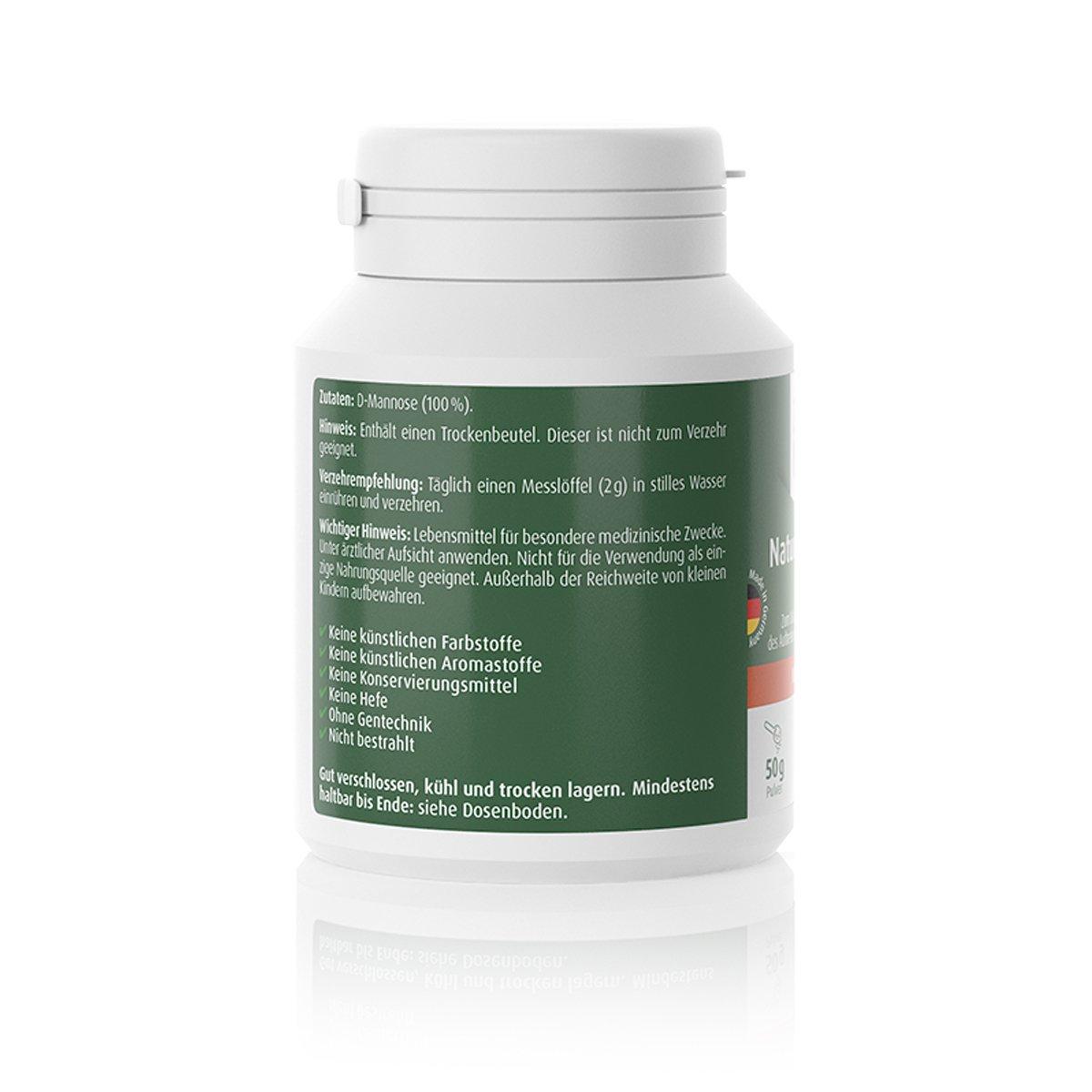 Natural D-Mannose Pulver 50g