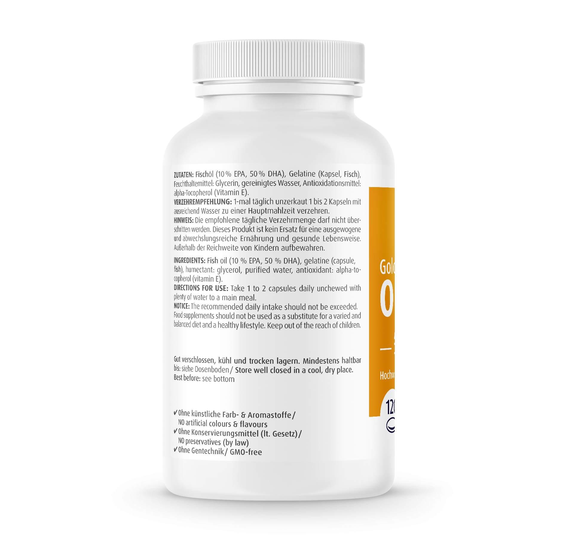 Omega-3 Gold - Brain Edition - 120 Kapseln
