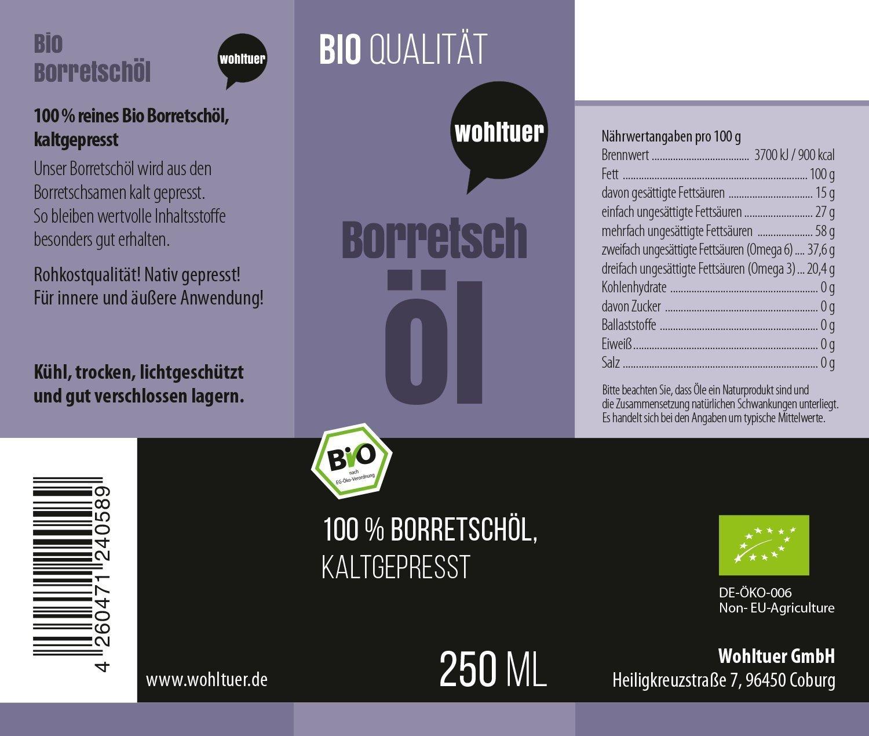 Bio Borretschöl - 250ml