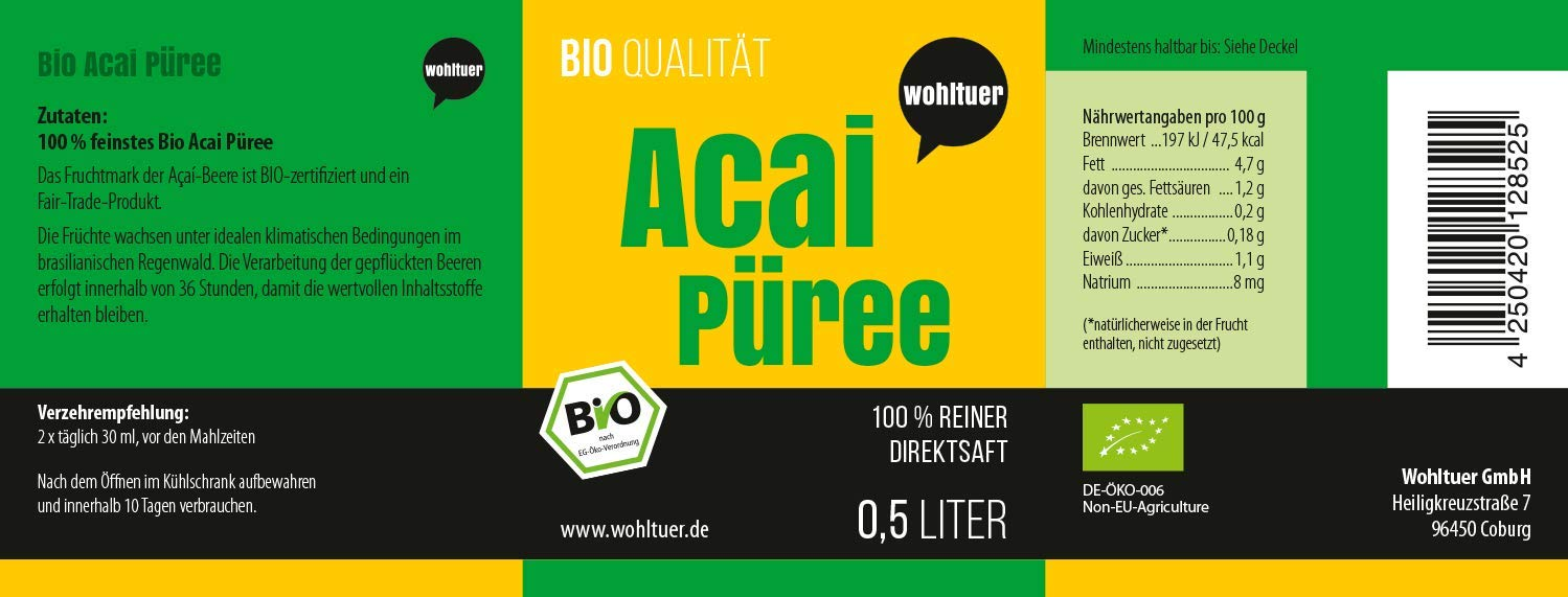 Bio Acai Püree - 500ml