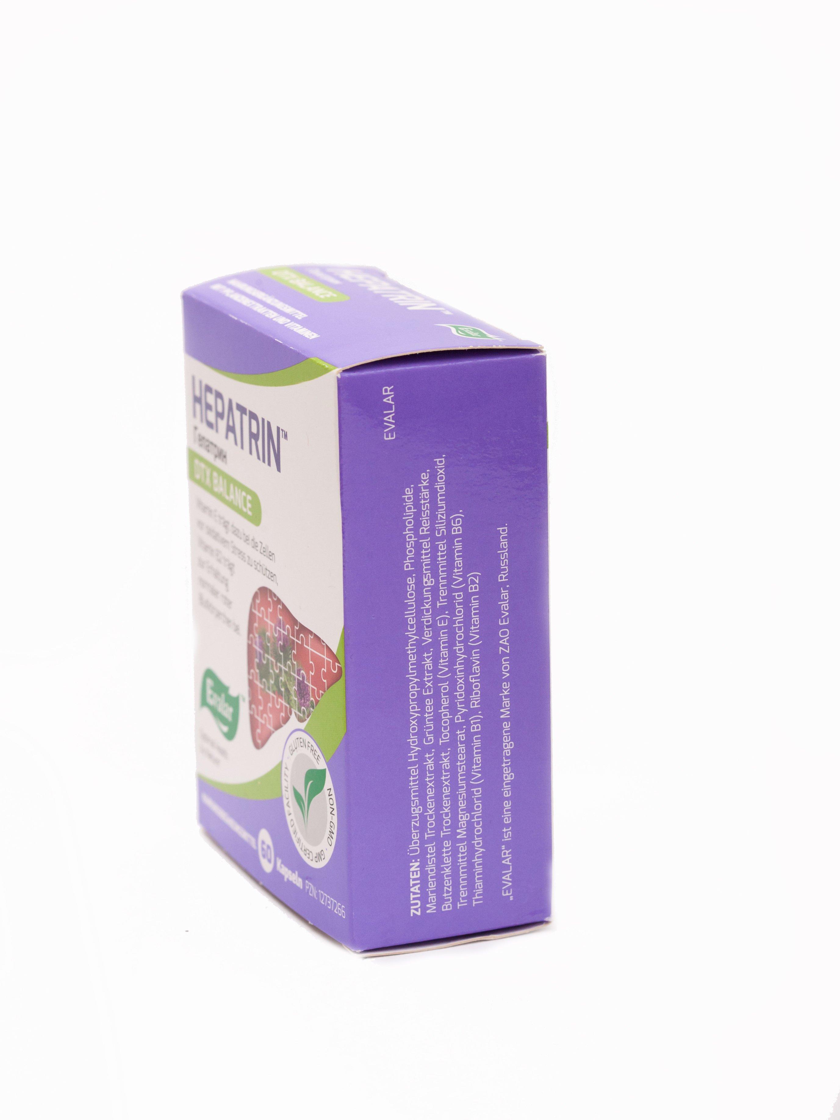 HEPATRIN von Evalar - 60 Kapseln