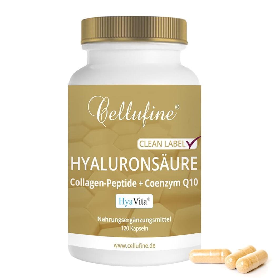 Cellufine® HyaVita® Hyaluronsäure-Kapseln mit Collagen + Coenzym Q10 - 120 Kapseln