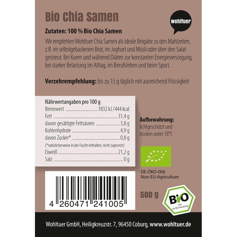 Bio Chia Samen - 500g