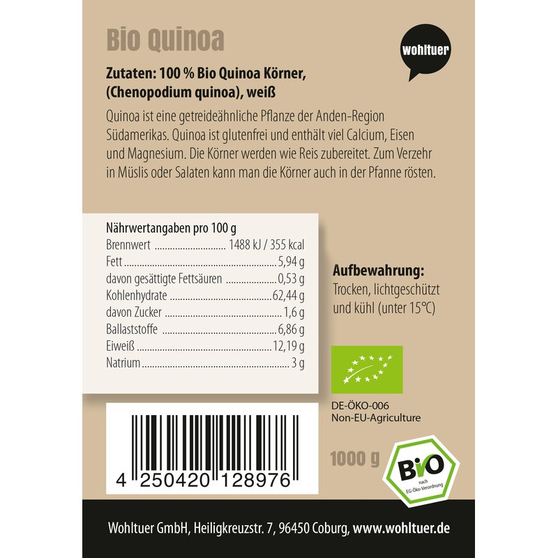 Bio Quinoa - 1000g
