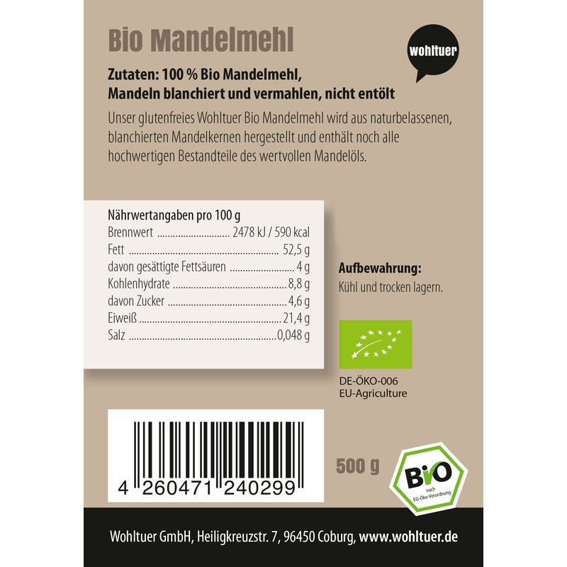 Bio Mandelmehl - 500g