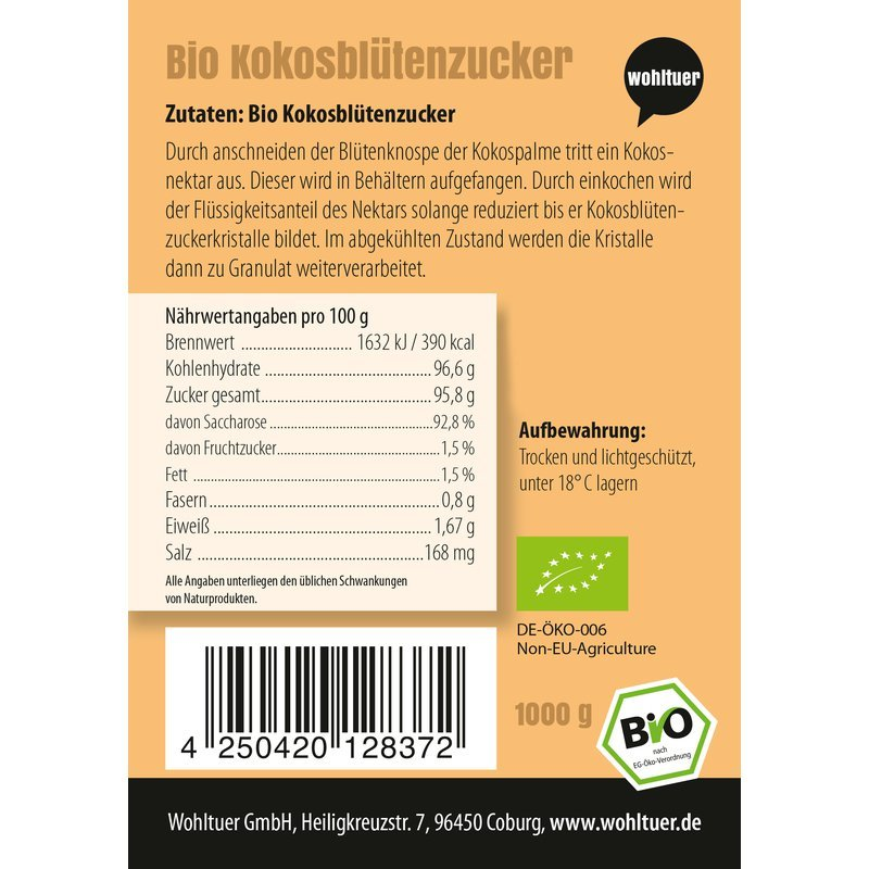 Bio Kokosblütenzucker - 1000g