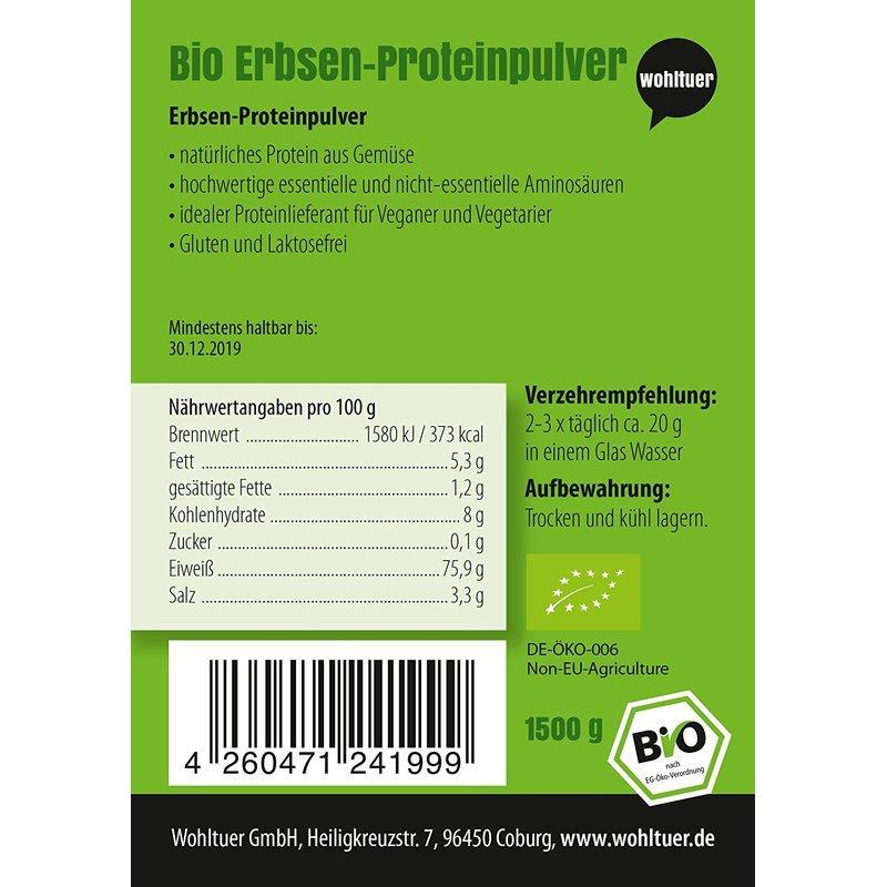 Bio Erbsenprotein - 1500g