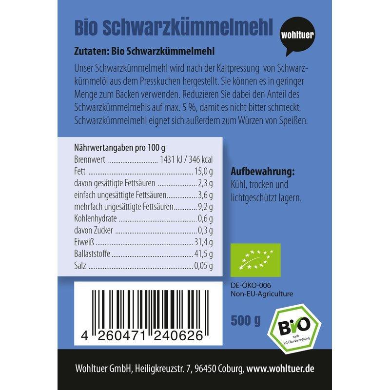 Bio Schwarzkümmelmehl - 500g