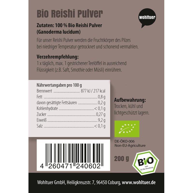 Bio Reishi Pulver - 200g