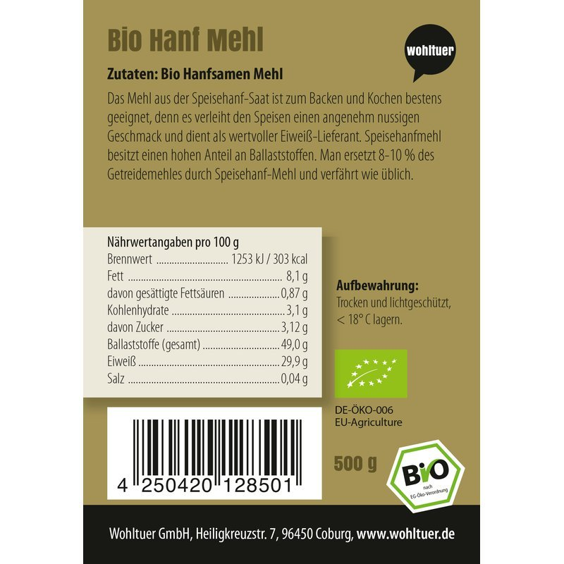 Bio Hanfmehl - 500g