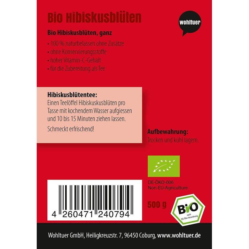 Bio Hibiskusblüten - 500g