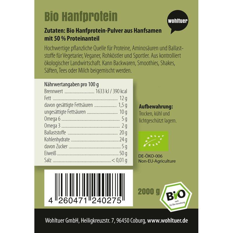 Bio Hanfprotein - 2000g