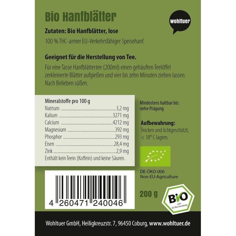Bio Hanfblätter - 200g