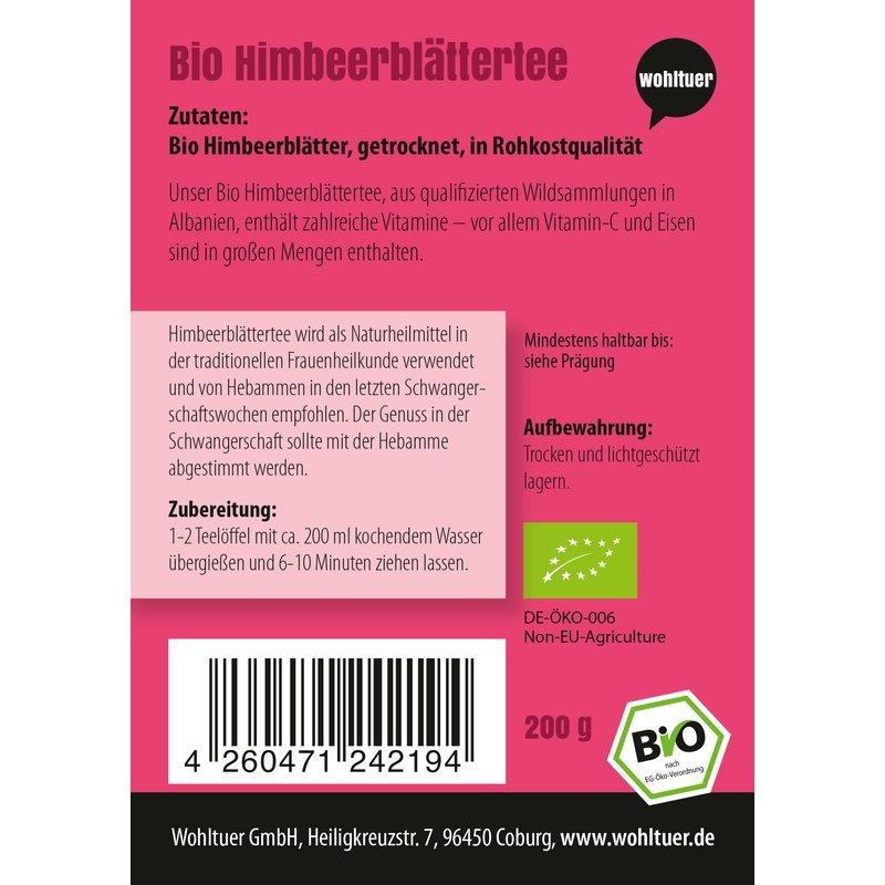 Bio Himbeerblättertee - 200g