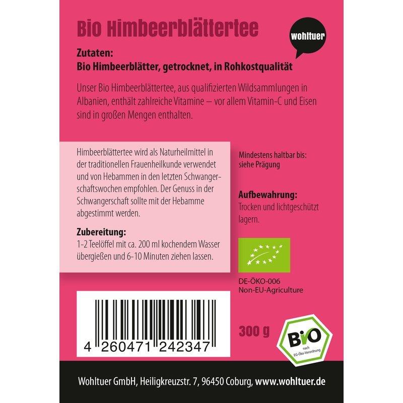 Bio Himbeerblättertee - 300g