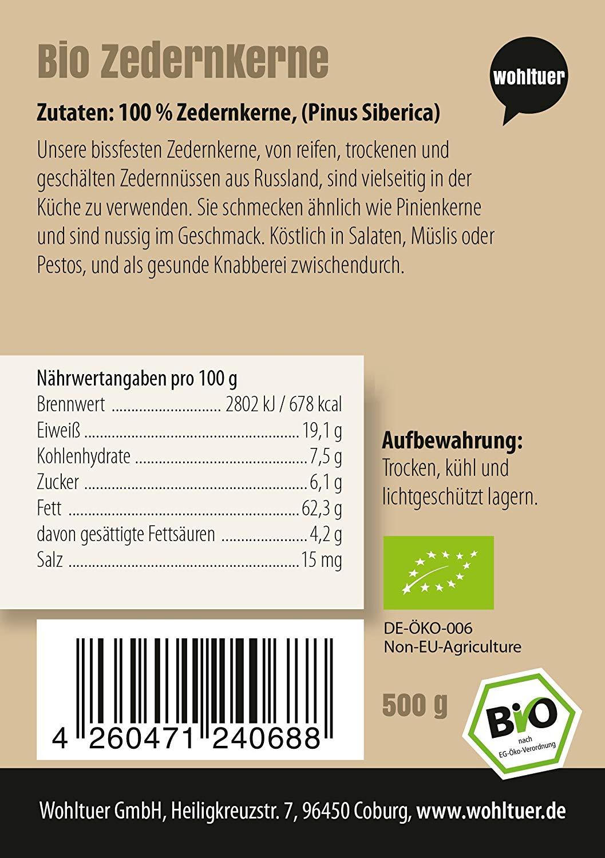Bio Zedernkerne - 500g