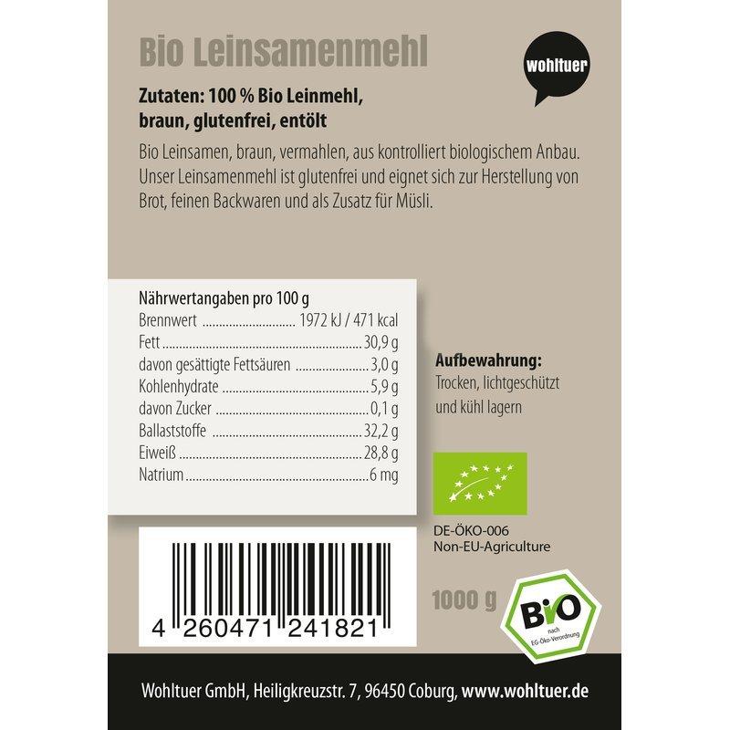 Bio Leinsamenmehl - 1000g