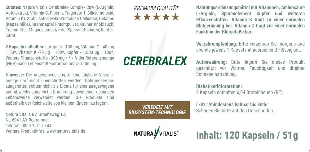 Cerebralex von Natura Vitalis® - 120 Kapseln