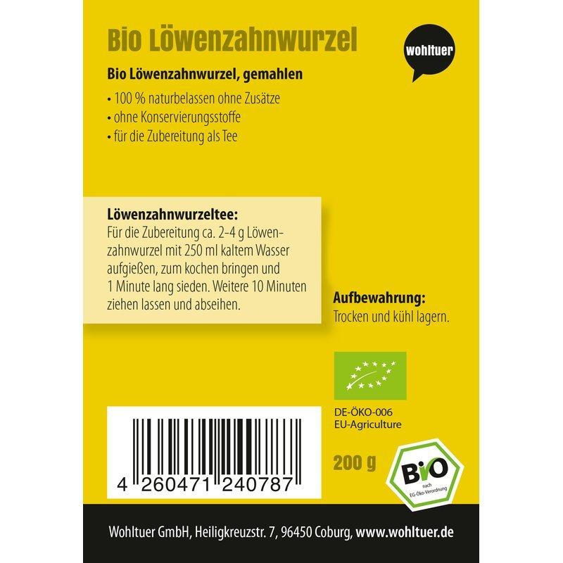 Bio Löwenzahnwurzel gemahlen - 200g