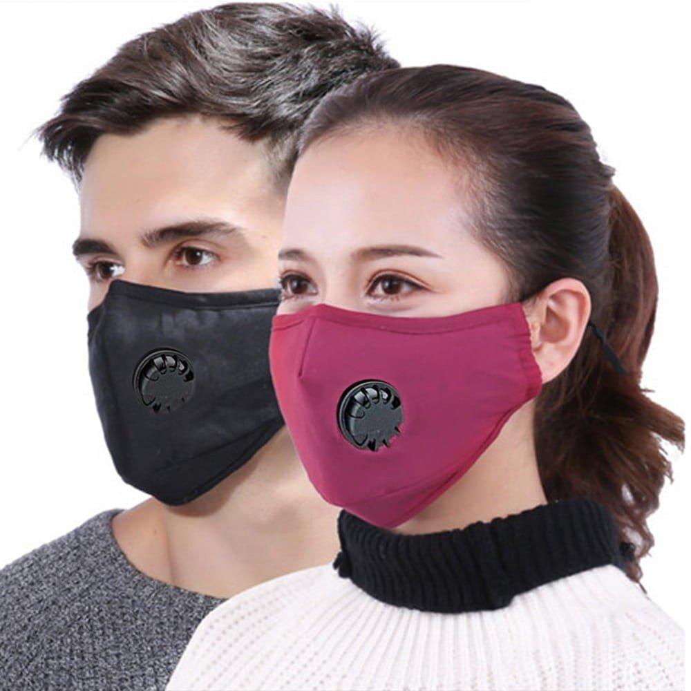 Community Mund- und Nasen Stoffmaske - weinrot