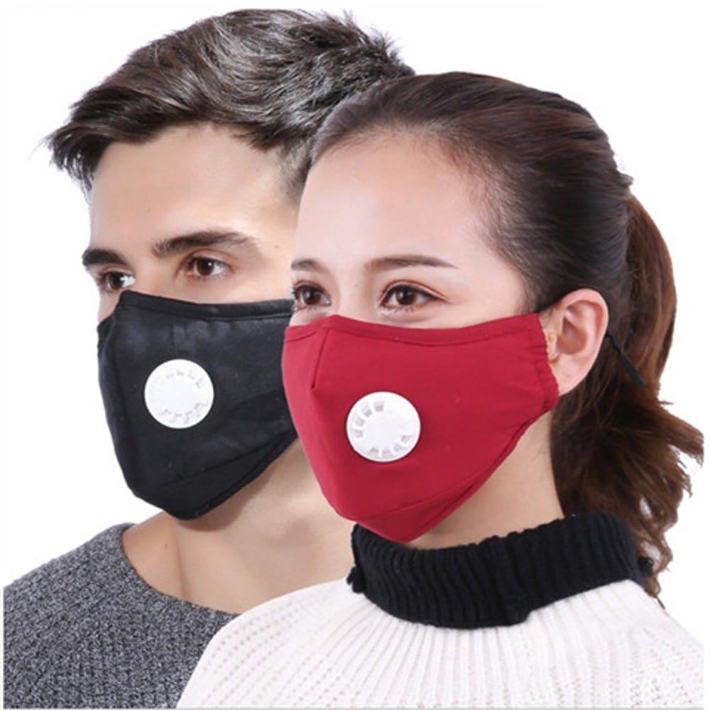 Community Mund- und Nasen Stoffmaske - schwarz