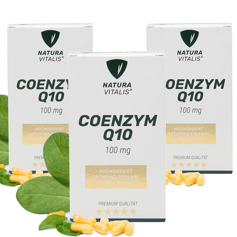 Set: Coenzym Q10 hochdosiert 100mg - 3x 180 Kapseln