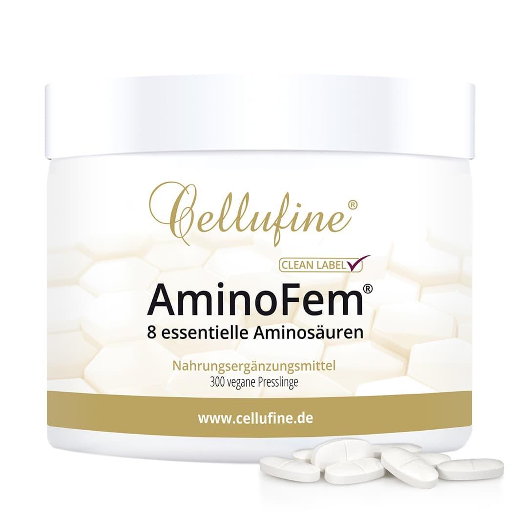 Cellufine® AminoFem® - 8 essentielle Aminosäuren - 300 vegane Tabletten