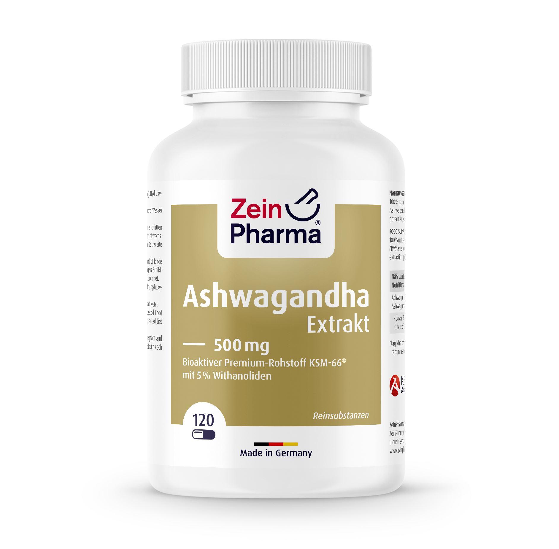 Ashwagandha Extrakt - 120 Kapseln