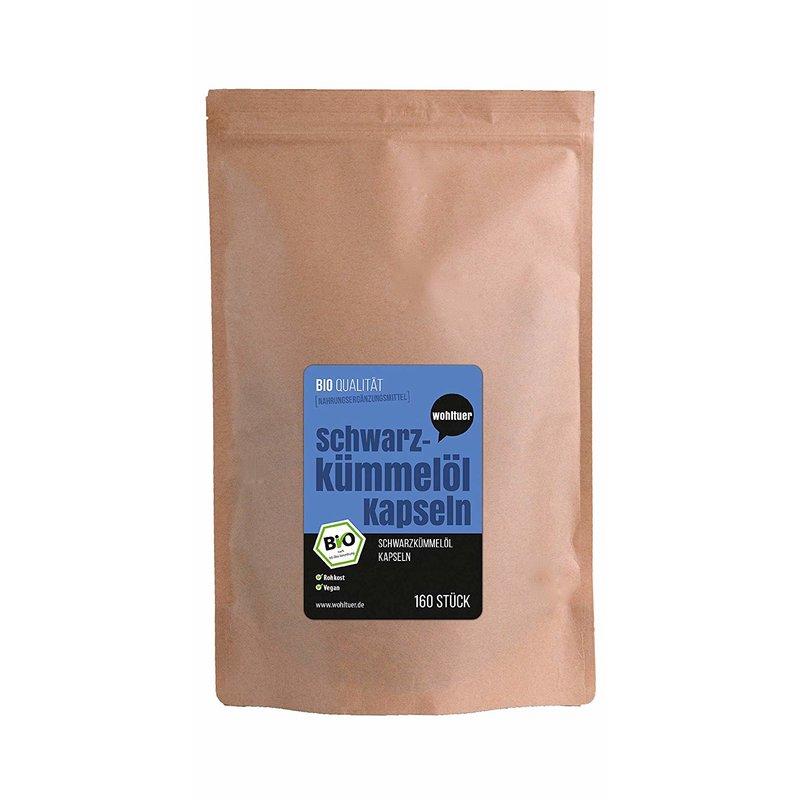 Bio Schwarzkümmelöl Kapseln - 160 Stück