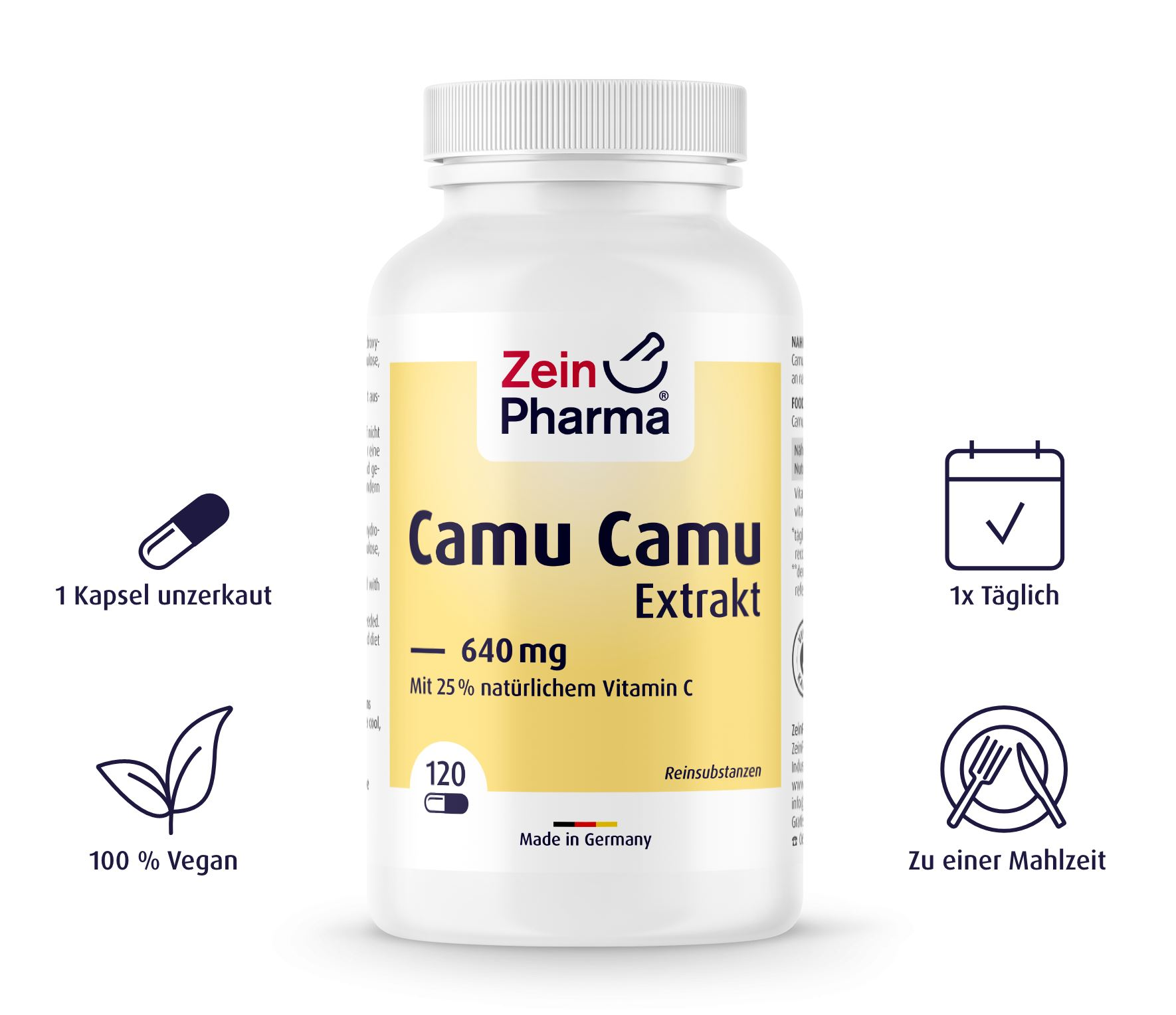 Camu Camu Extrakt von ZeinPharma - 120 Kapseln
