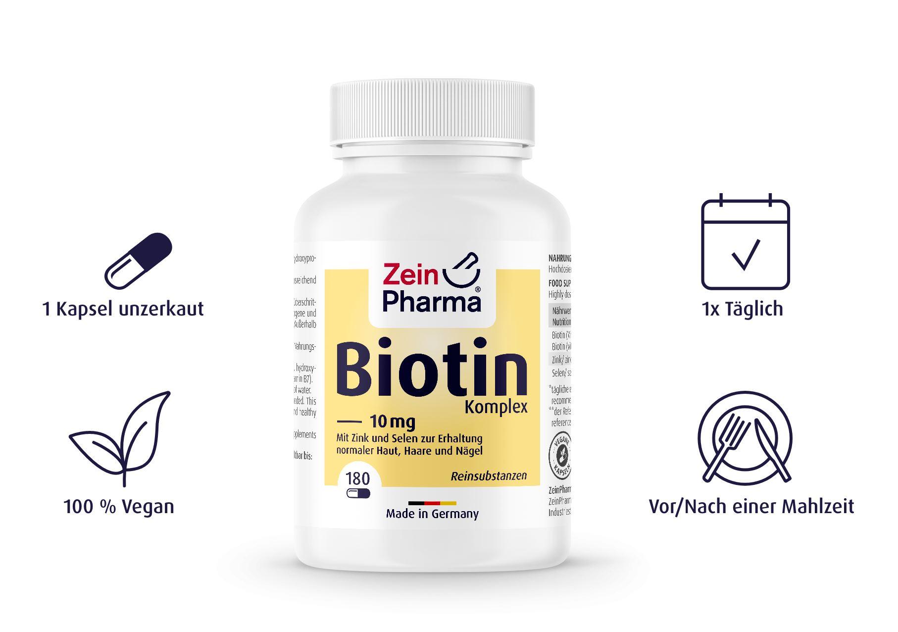 Biotin Komplex 10mg - 180 Kapseln