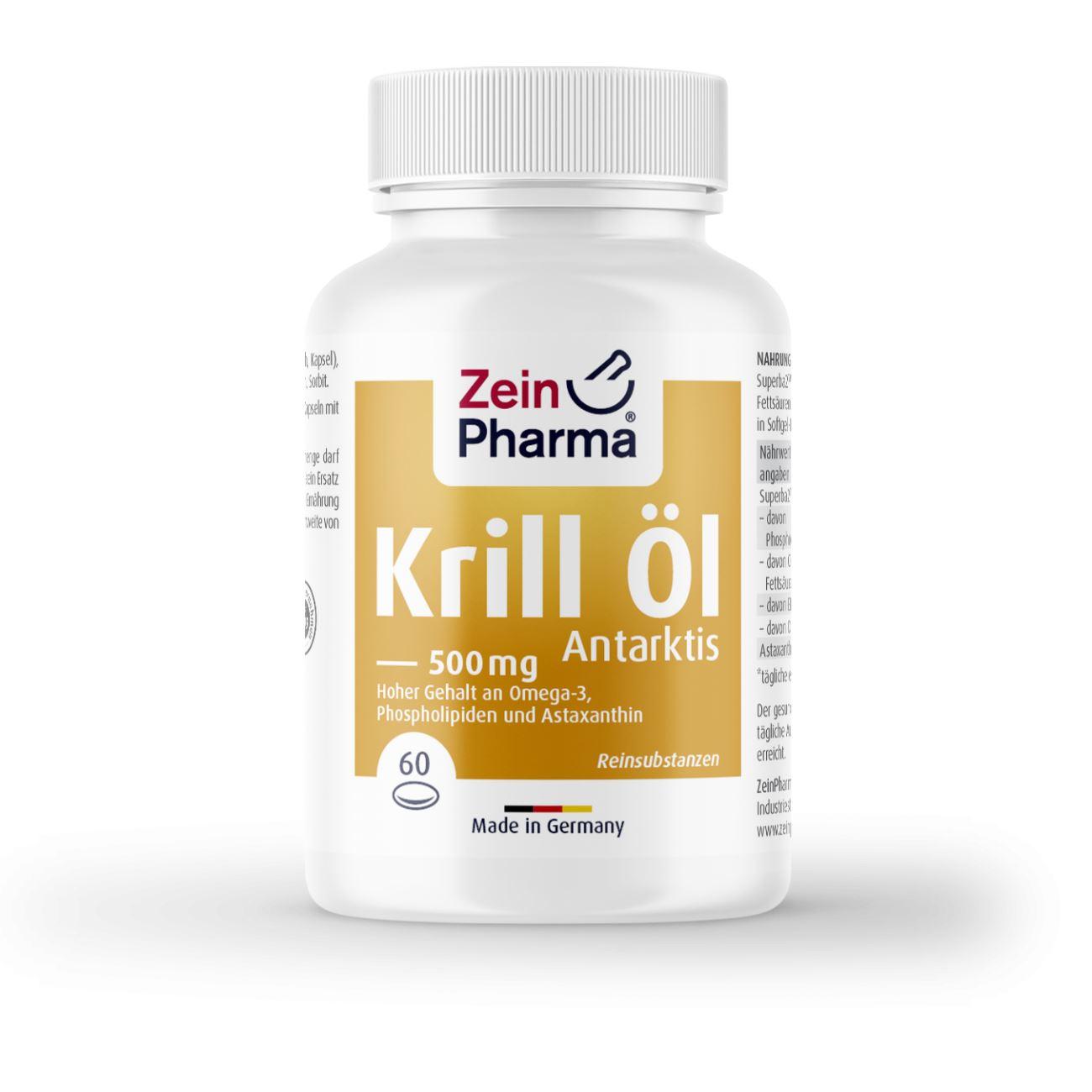 Krill-Öl Omega-3 Antarktis 500 mg - 60 Kapseln