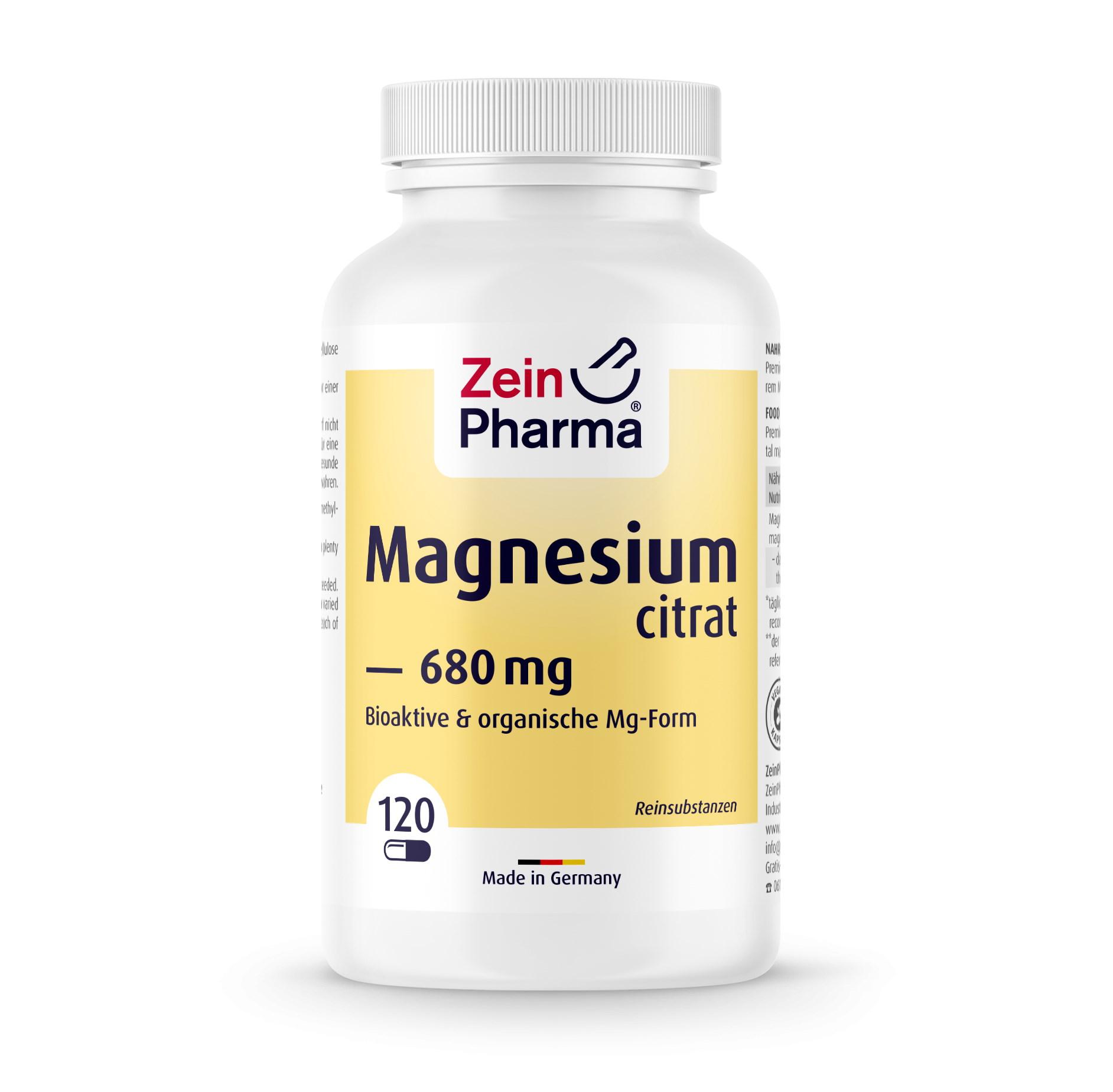Magnesiumcitrat 120 Kapseln 680mg