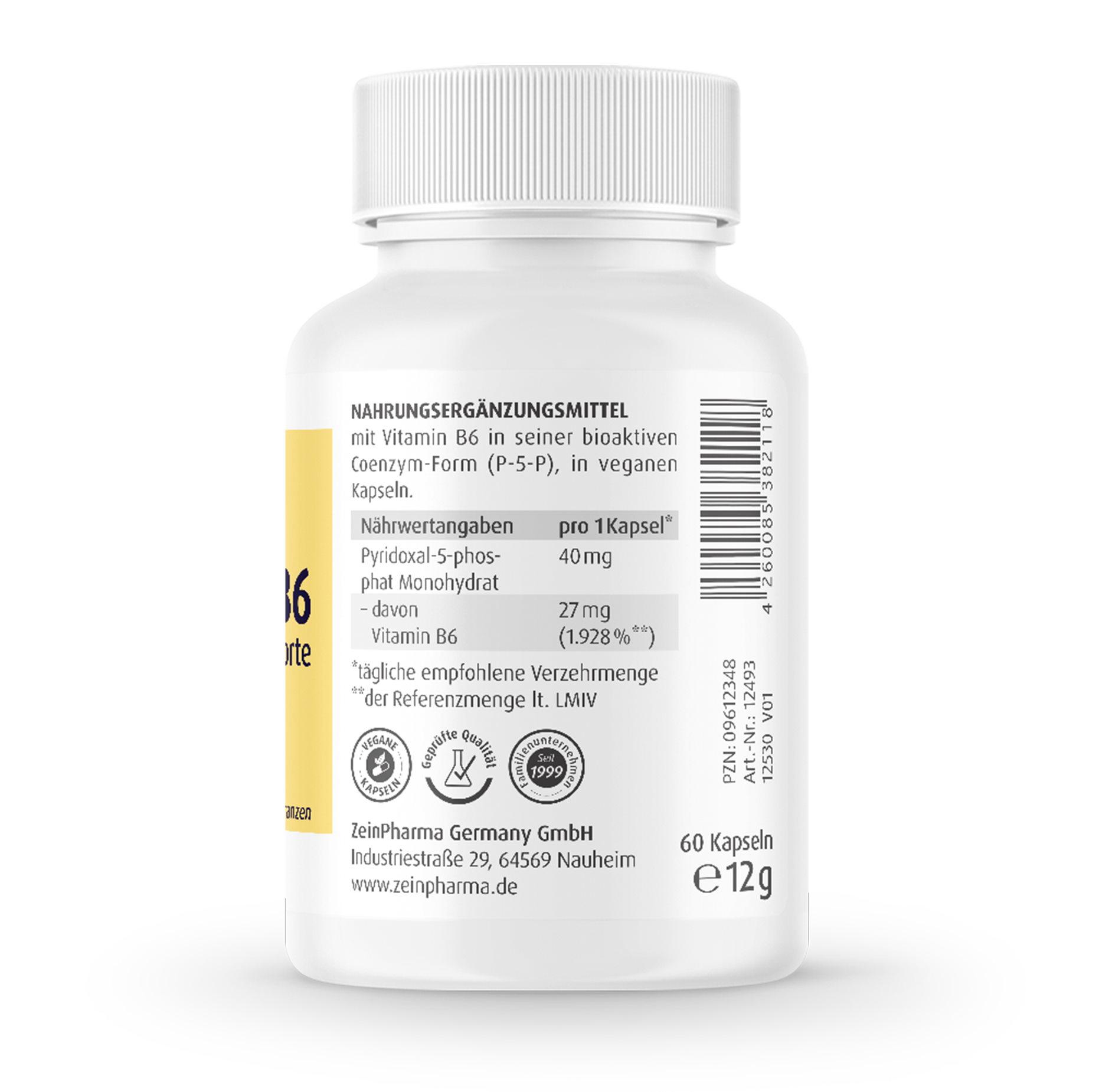 P-5-P 60 Kapseln (Vitamin B6) 40mg