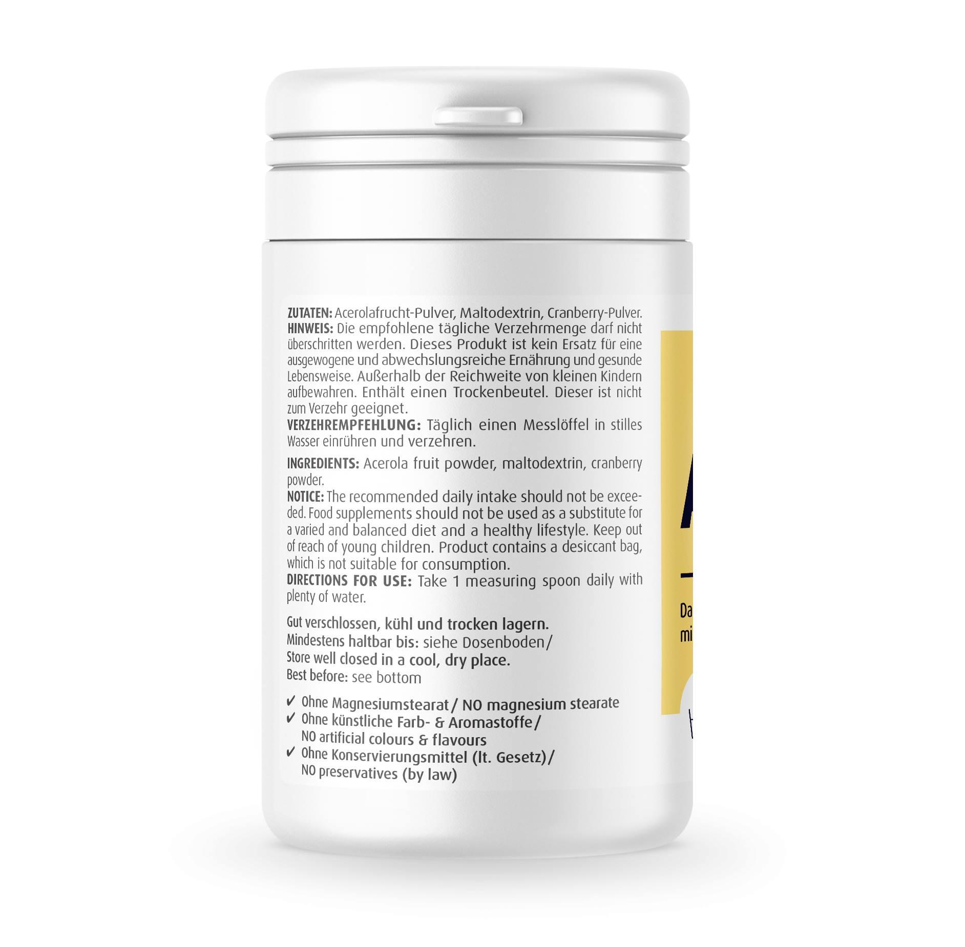 Acerola pur Pulver 150 g