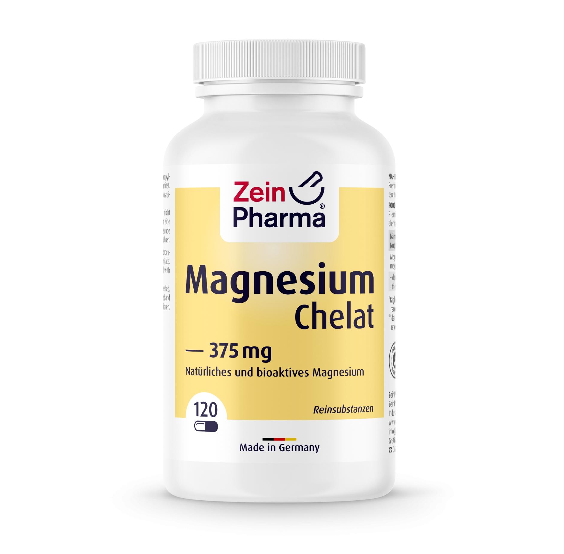 Magnesiumchelat 120 Kapseln von ZeinPharma®