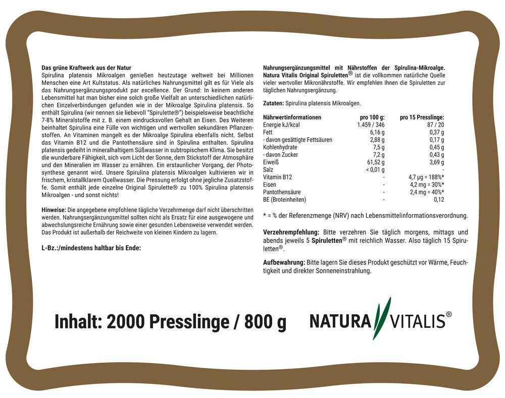 Spirulina 2000 Original Spiruletten® in wunderschöner Schmuckdose