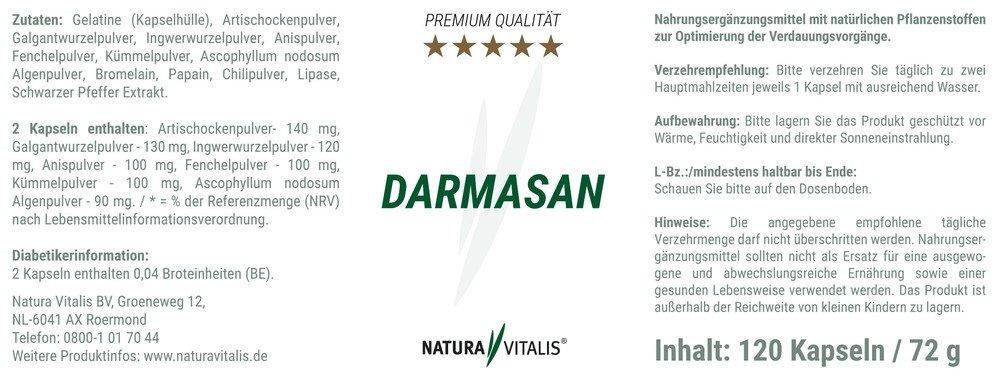 DarmAsan - Zur Optimierung der Verdauungsvorgänge