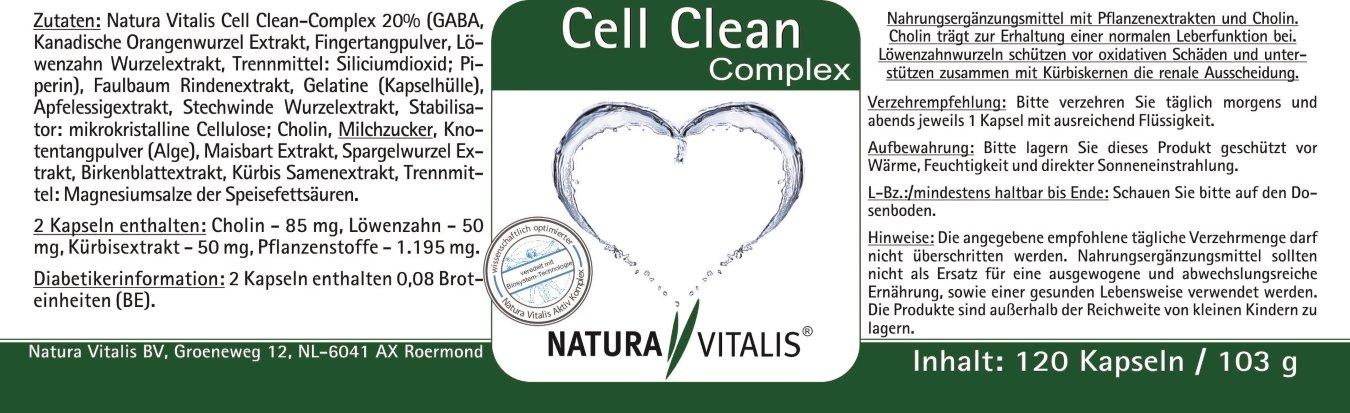 Cell Clean Complex - 120 Kapseln von Natura Vitalis®