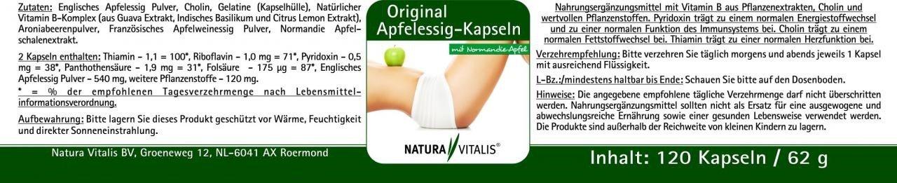 Original Apfelessig-Kapseln - 120 Kapseln