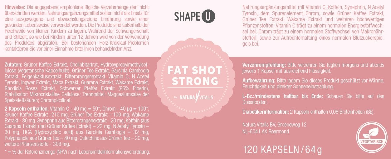 Shape U - Fat Shot Strong 120 Kapseln